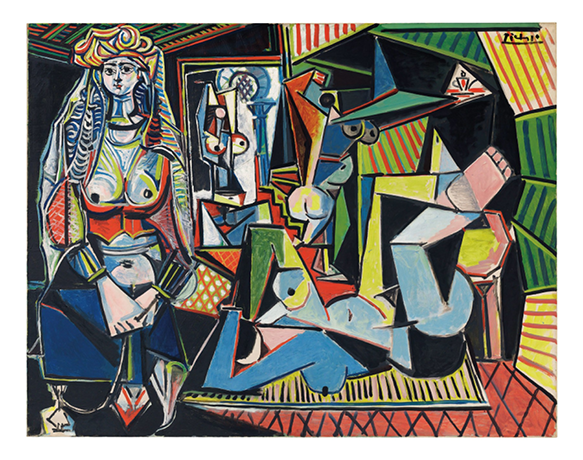 "Please note mandatory byline © 2015 Estate of Pablo Picasso / ARN  Les femmes d'Alger (Version ""O"") by Pablo Picasso. See SWNS story SWPICASSO; A Picasso masterpiece is set to become the most expensive painting ever sold at auction when it goes under the hammer this summer with a £100 MILLION guide price. 'Les femmes d'Alger' is a ""majestic, vibrantly-hued painting"" which was inspired by the 19th century French master Eugene Delacroix. The Women of Algiers in their Apartment was a famous 1834 painting by Delacroix which is currently located in the Louvre, Paris. Picasso created 15 variations of it between 1954 and 1955 - with this piece the final, and most highly finished version., Image: 231932358, License: Rights-managed, Restrictions: follow us on twitter - @swns browse our website - swns.com email pix@swns.com, Model Release: no, Credit line: Profimedia, SWNS"