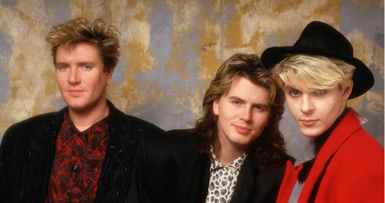 The singer, bass player, and keyboard player for the new wave band Duran Duran pose for a picture together., Image: 2732024, License: Rights-managed, Restrictions: , Model Release: no, Credit line: Profimedia, Corbis