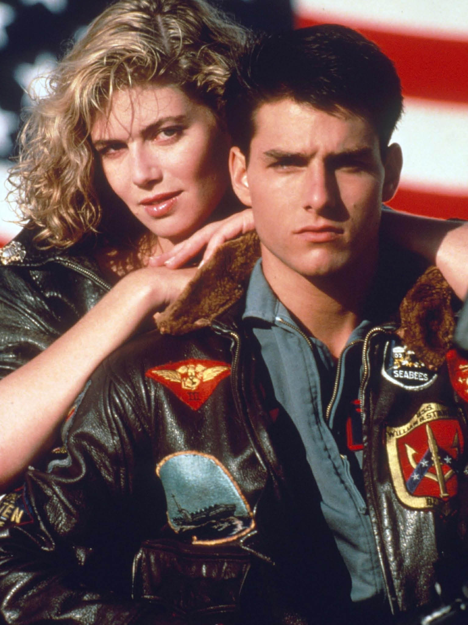 Mandatory Credit: Photo By Rex Features TOM CRUISE AND KELLY MCGILLIS IN  TOP GUN  FILM  TOP GUN  - 1986 (EDITORIAL USE ONLY) EDITORIAL USE ONLY