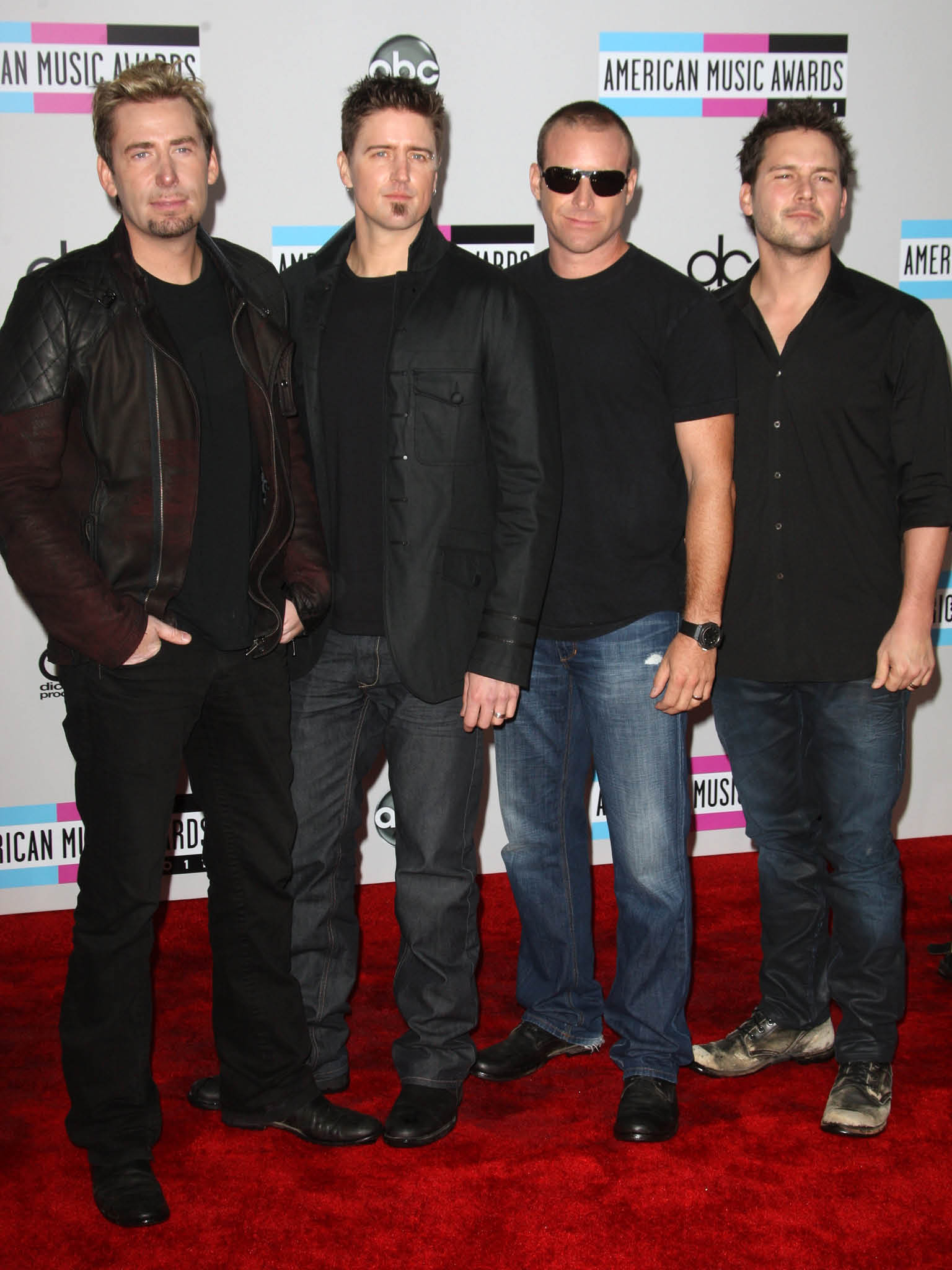 Manadatory Credit: Photo by Peter Brooker / Rex Features (1498683bp)  Nickelback  American Music Awards, Arrivals, Los Angeles, America - 20 Nov 2011